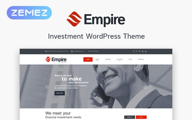 Адаптивная тема WordPress для инвестиционной компании