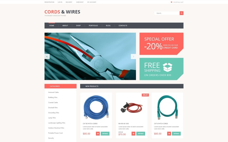 Cords  Wires Store WooCommerce Theme