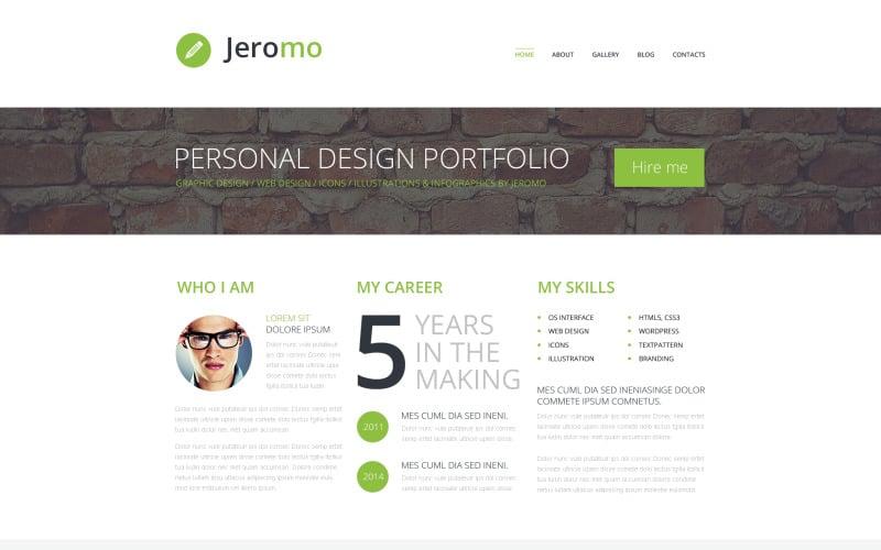 Personal Design Portfolio WordPress Theme