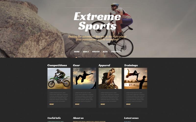 Responsive WordPress-thema voor extreme sporten