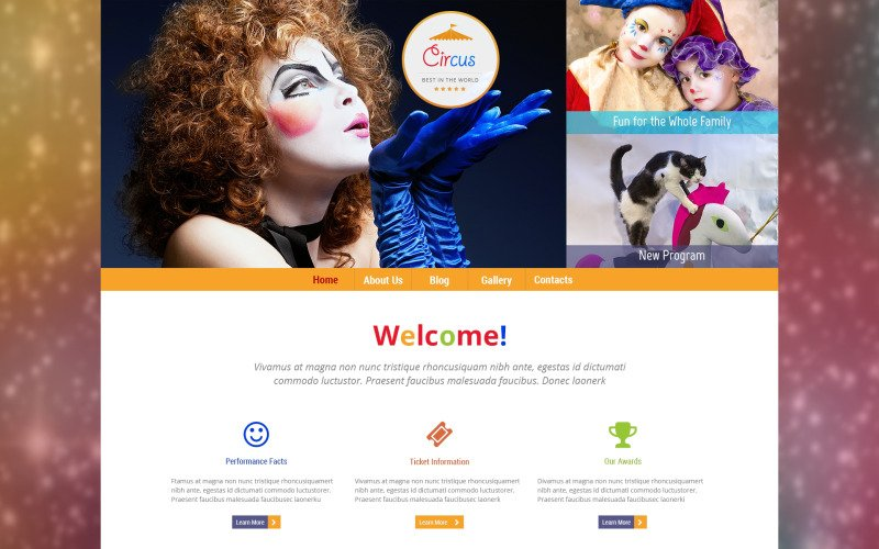 Tema de WordPress Circus Wonders