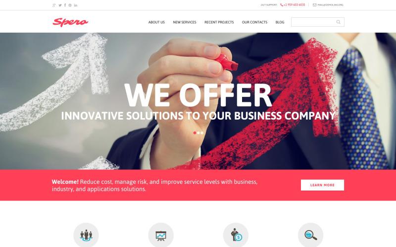 Тема для вашего бизнеса Шаблон Drupal