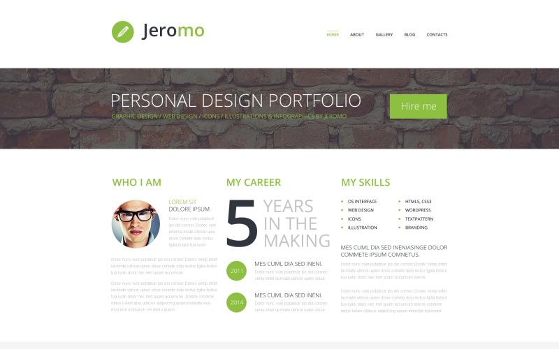 WordPress тема портфолио персонального дизайна