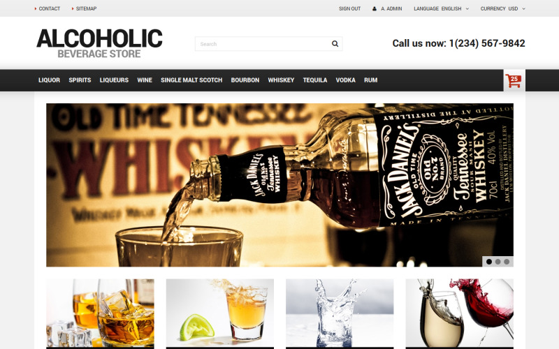 Alcoholic Beverage Store PrestaShop Teması