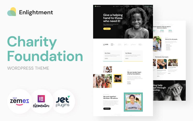 Charity Foundation WordPress Theme - Enlightment WordPress Theme
