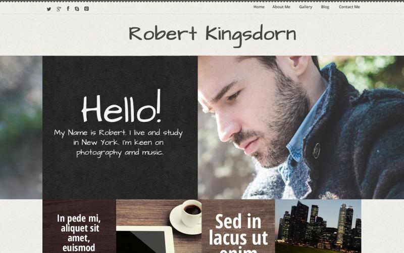 Kişisel Kariyer Sayfası WordPress Teması