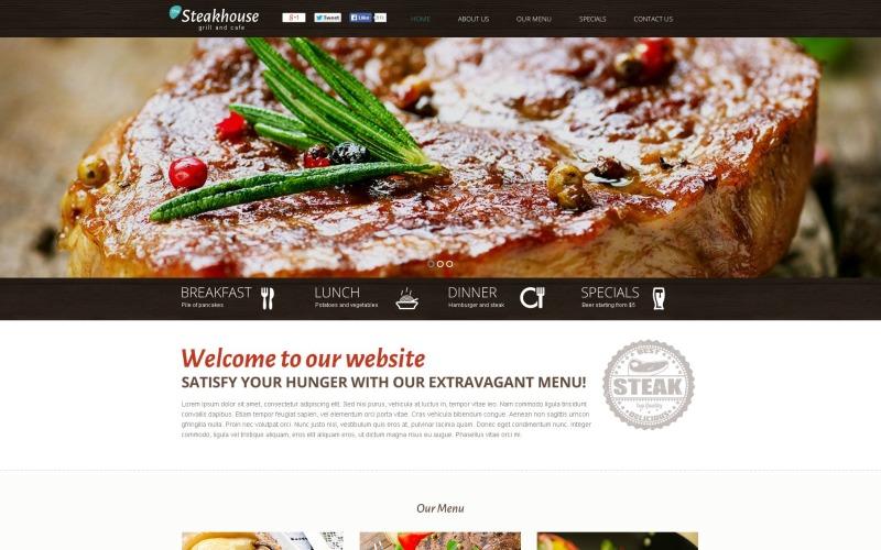 Modèle CMS Flash Steakhouse