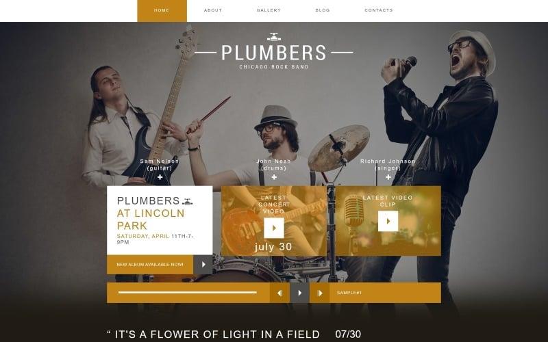 Plumbers - Music Band Creative Joomla Template