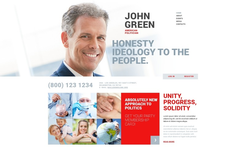 Portfolio for Politicians Joomla Template