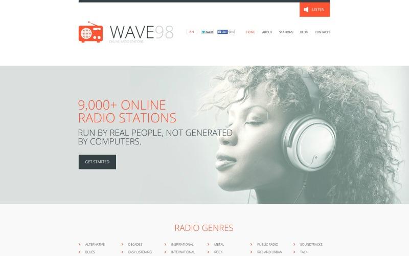Radio Website Flash CMS Template