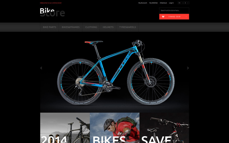 Тема Magento для велосипедов и принадлежностей