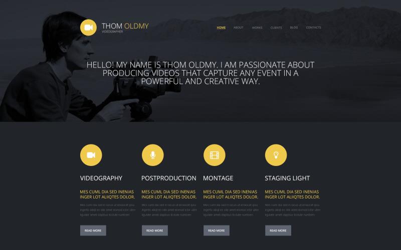 Тема відеографа WordPress