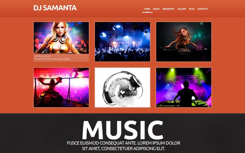 Tema WordPress responsivo à música