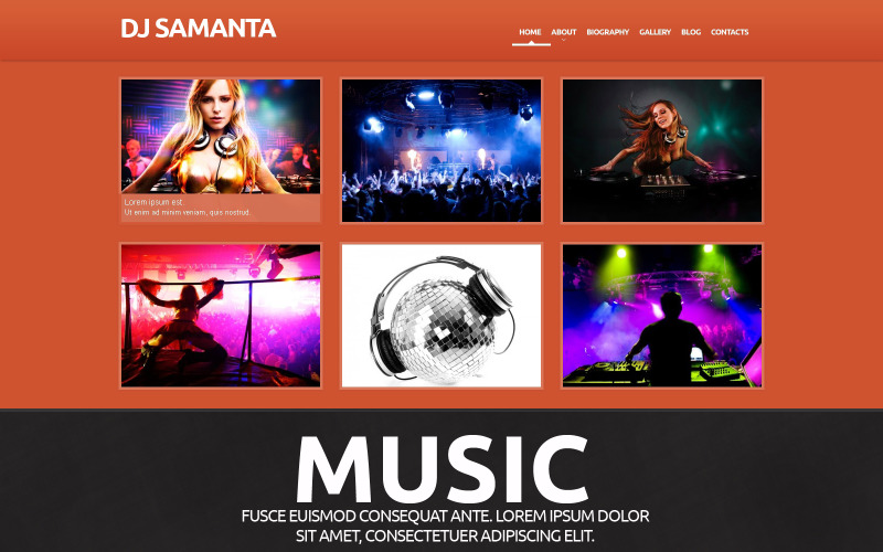 Thème WordPress réactif pour la musique