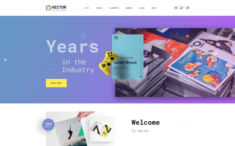 Stockfoto - Print Shop Moderna HTML-webbplatsmall
