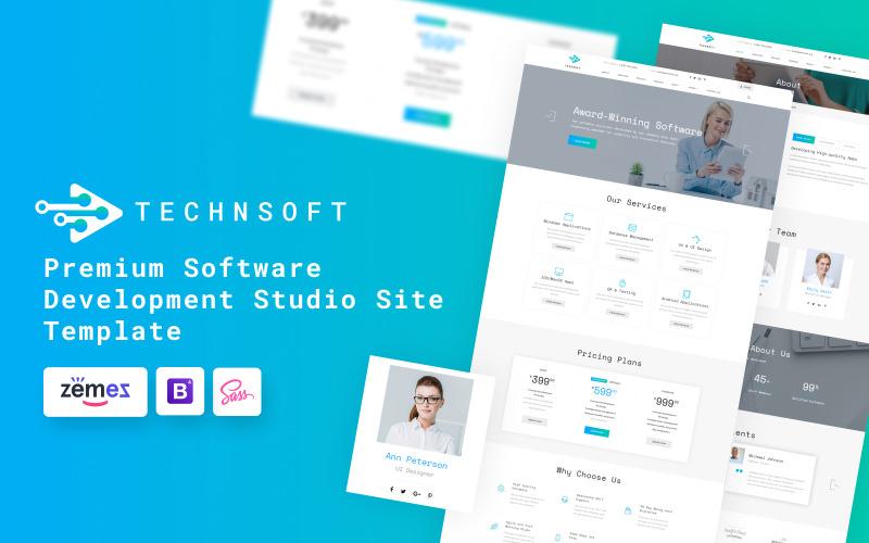 TechSoft - Website sjabloon voor Software Development Studio