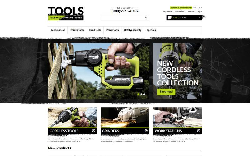 Thème Magento réactif pour les outils et équipements