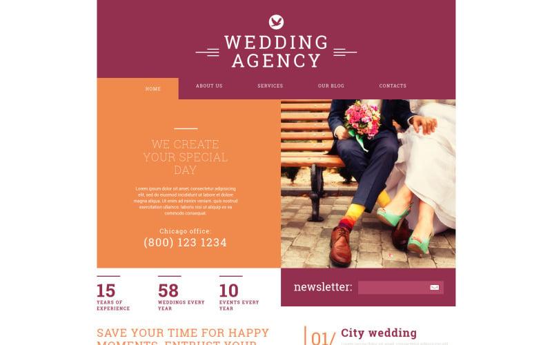 Wedding Agency Joomla Template