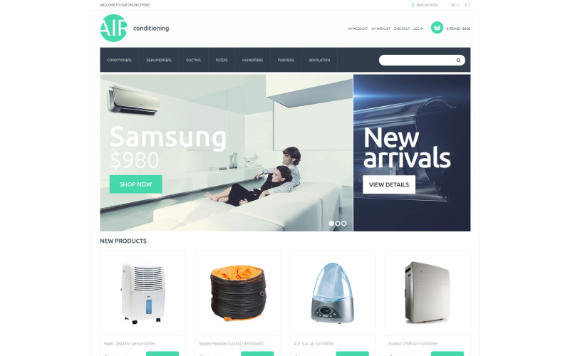 AC Parts and Accessories Magento Theme