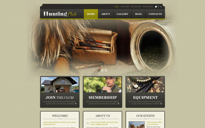 Адаптивная тема WordPress для охоты