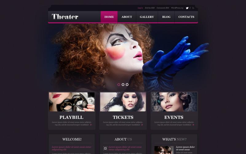 Entertainment.Theater Template WordPress Theme