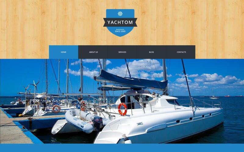 Тема WordPress для приятного отдыха на яхте