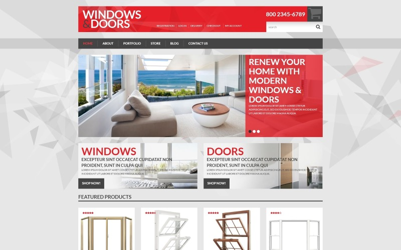 Windows  Doors Store WooCommerce Theme
