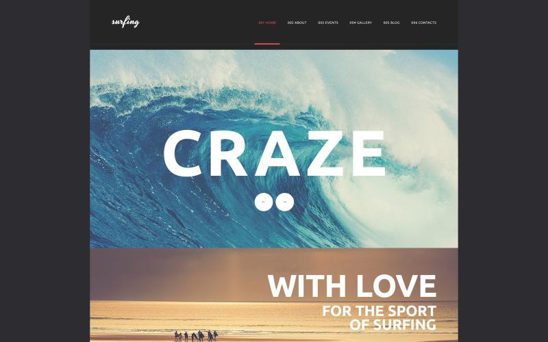 WordPress тема Surfing Club