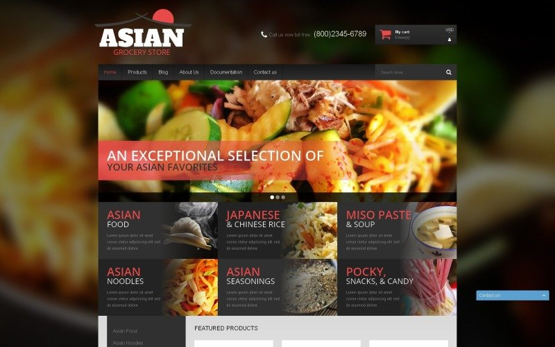 Asian Cuisine Products Shopify Theme