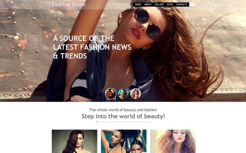 Modelo de musa de blog de moda