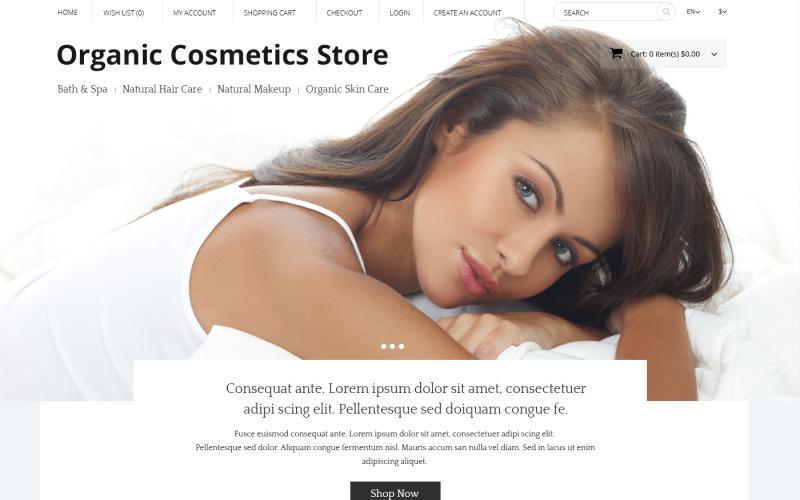 OpenCart шаблон магазина органической косметики