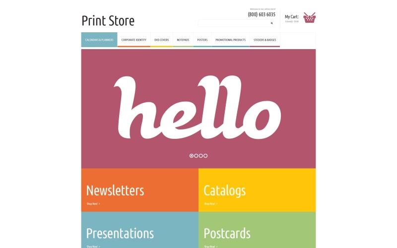 Print Shop PSD Template