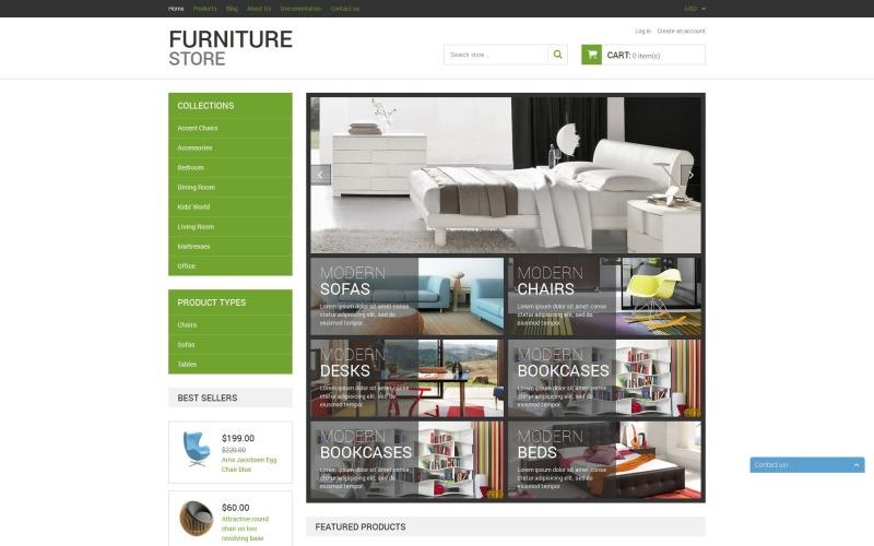 Современная мебель Shopify Тема