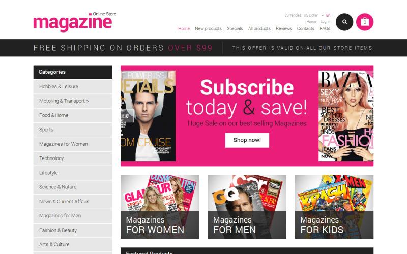 Szablon portalu informacyjnego ZenCart
