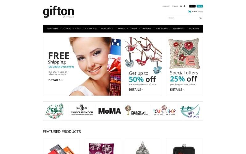 Tema PrestaShop del negozio di articoli da regalo