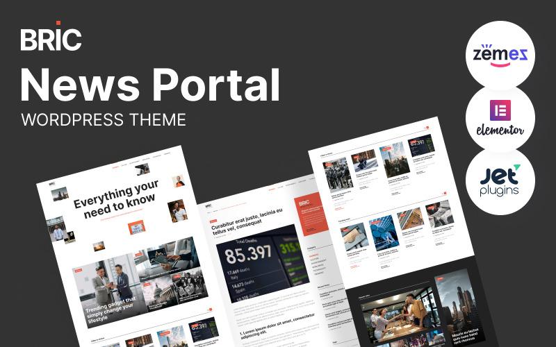 Bric - gazeta, motyw WordPress portalu informacyjnego