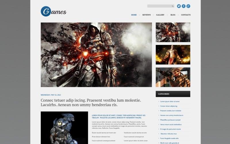 Duyarlı Oyunlar WordPress Teması