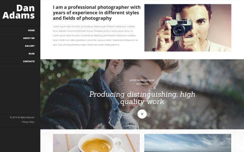 Photography Online Portfolio WordPress Theme