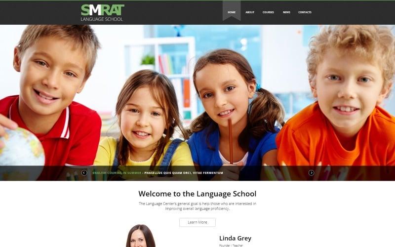 Plantilla Joomla para la enseñanza de idiomas extranjeros