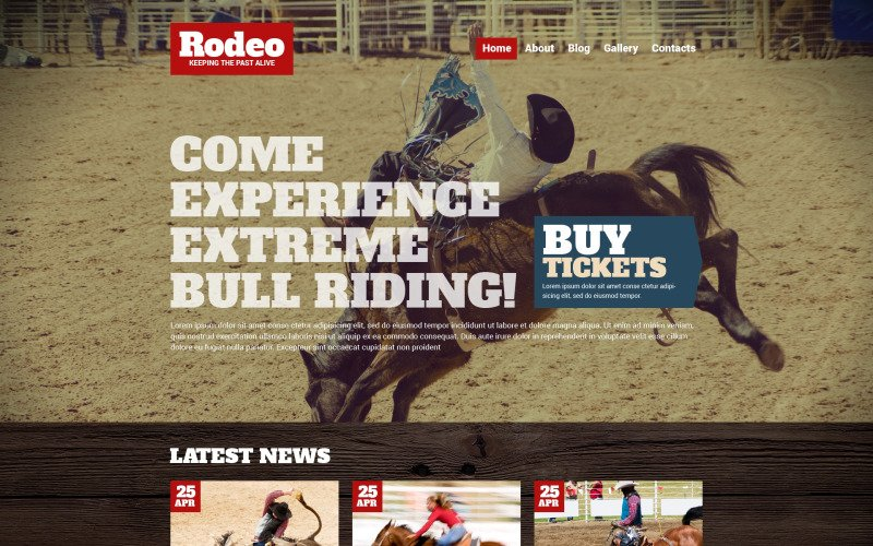 Rodeo WordPress-thema