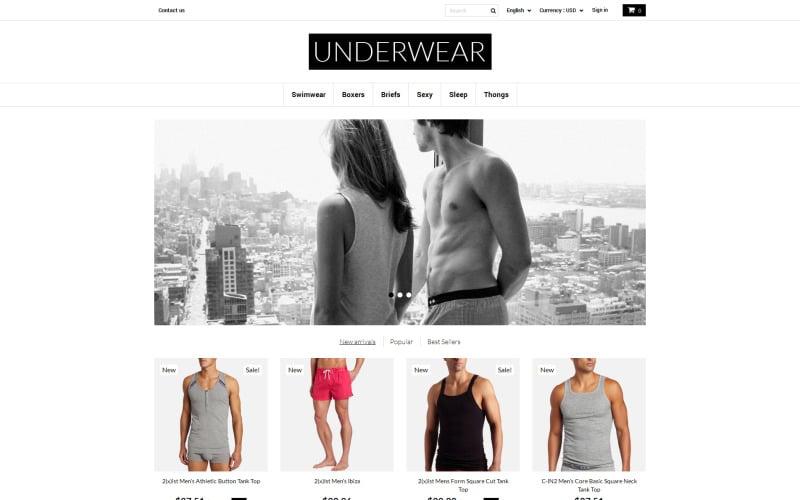 Underwear for Men PrestaShop Theme
