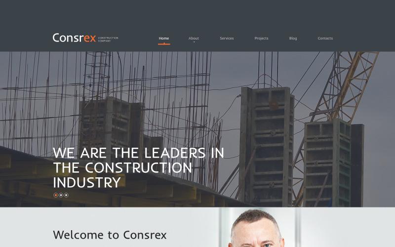 Адаптивная тема WordPress для строительных компаний
