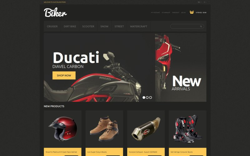 Bikes and Motorcycles Magento Theme