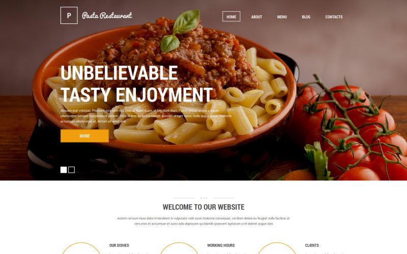 Italian Pasta Restaurant Drupal Template
