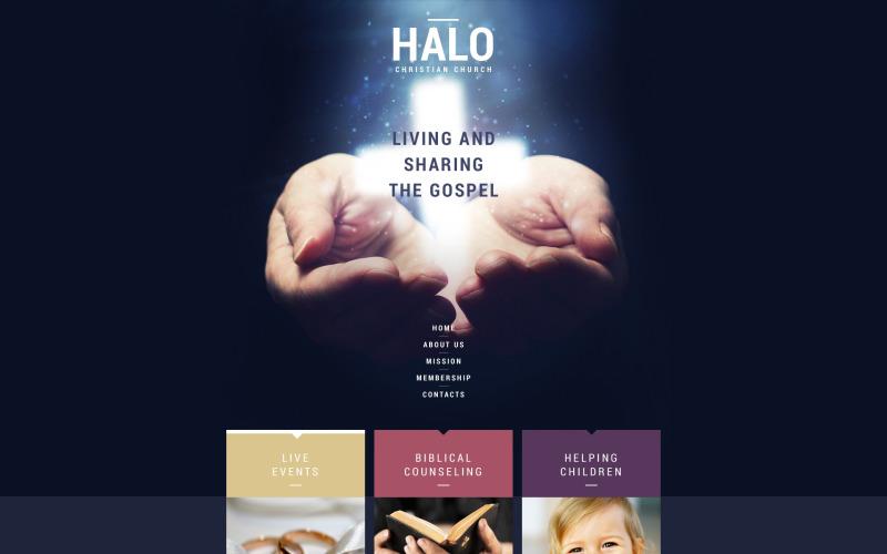 Modello di sito Web reattivo cristiano