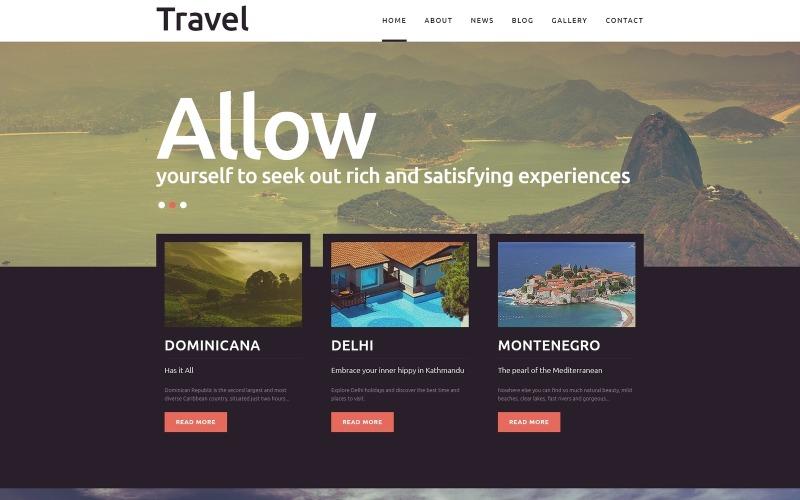 Подорожі - Шаблон Joomla для фантастичного туризму
