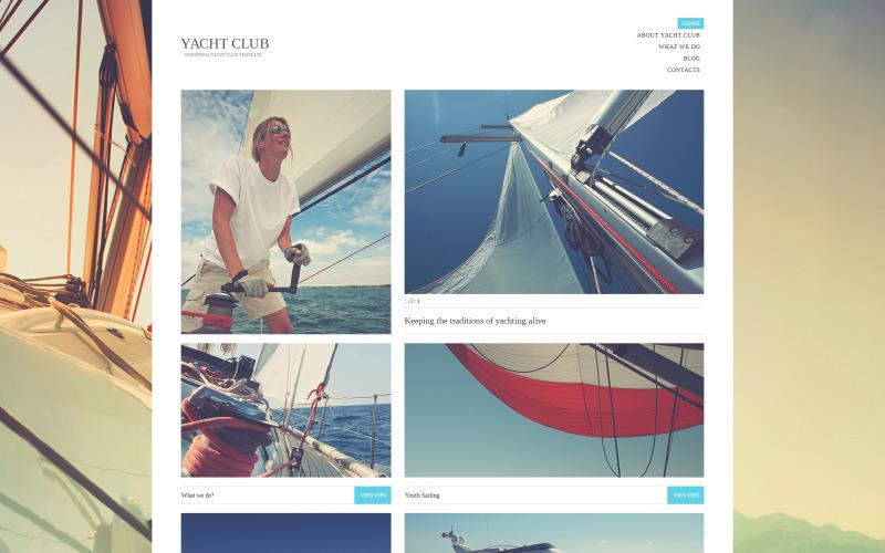 Tema WordPress do Yacht Club