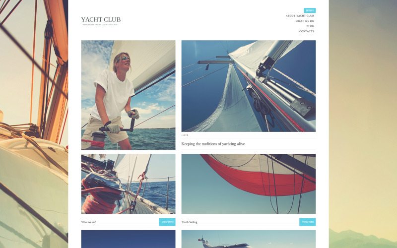 Thème WordPress du Yacht Club