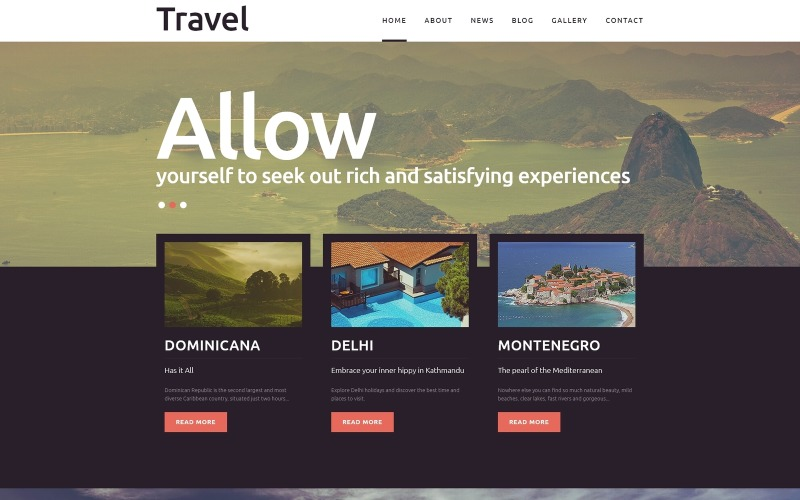 Viaggi - Modello Joomla per blog sul turismo di fantasia