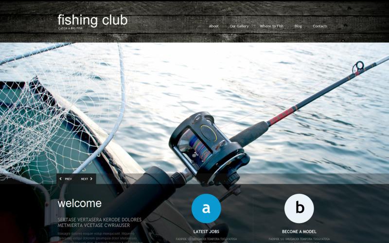 Адаптивная тема WordPress для рыбалки